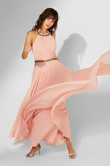 6ecf932d360 Chiffon dress with a cut-away neckline