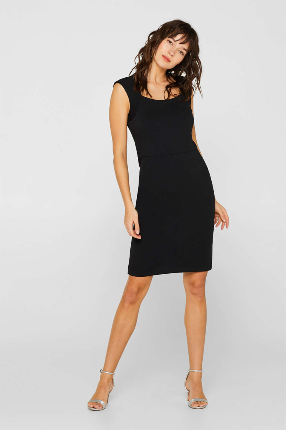 Esprit - Sheath dress in jersey with stretch for comfort