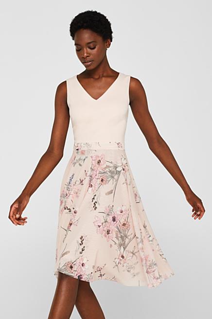 413486432832ab Festliches Kleid aus Jersey und Tüll