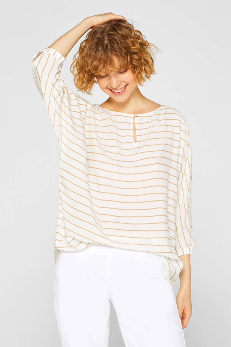 Esprit - Oversized blouse with striped pattern