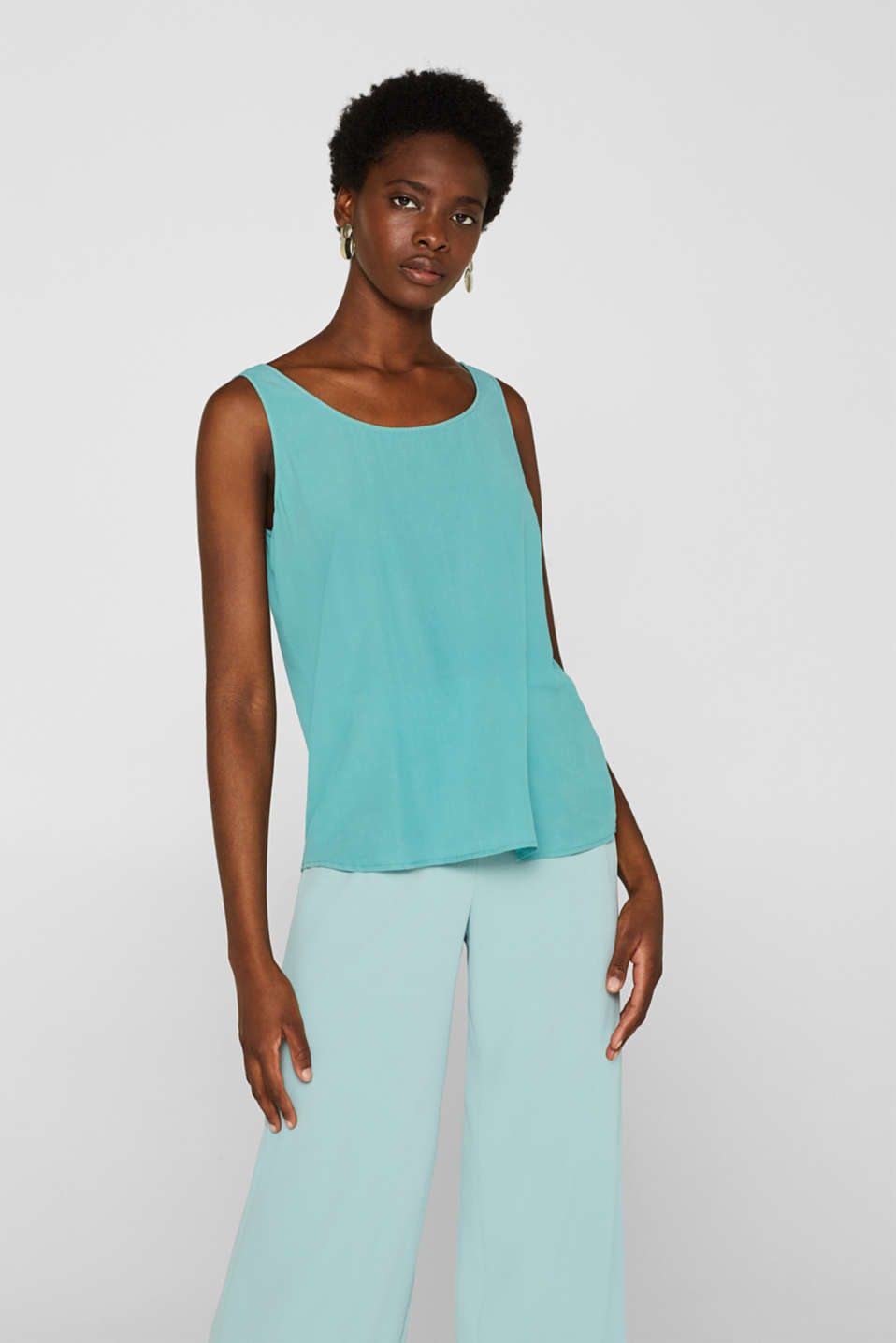 Esprit - Vest top in 100% silk