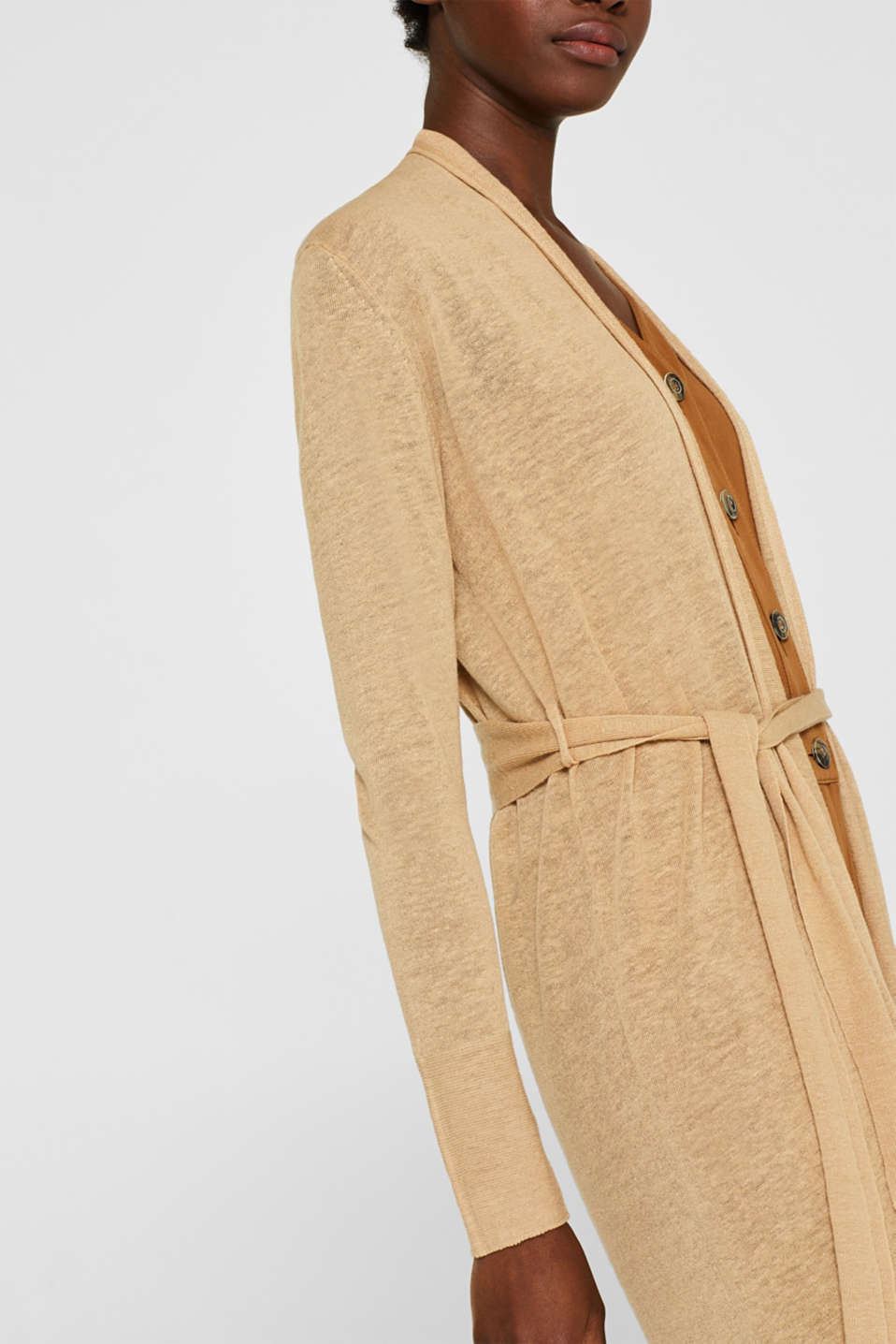 Sweaters cardigan, CAMEL 5, detail image number 2