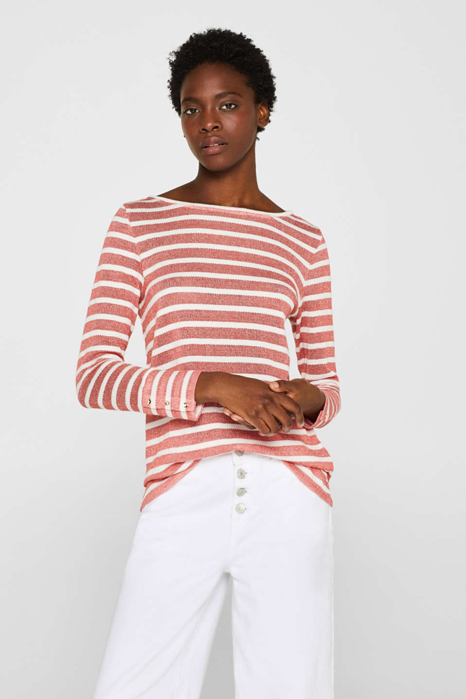 Esprit - Airy knitted jumper in a striped look