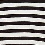 Striped T-shirt with chiffon layering, BLACK, swatch