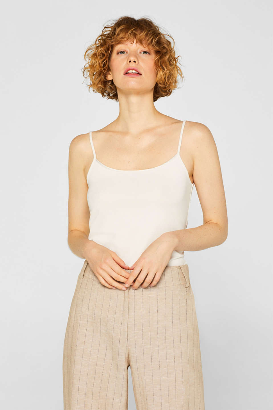 Esprit - Basic stretch top with spaghetti straps