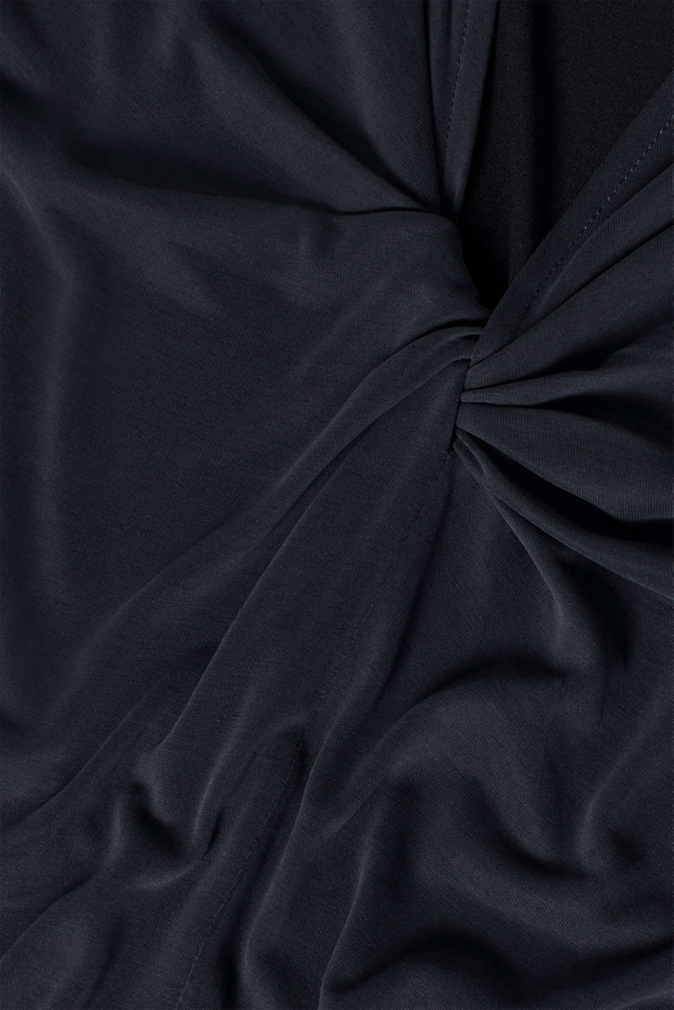 Top with a cut-out at the back and draped effect, BLACK, detail image number 4