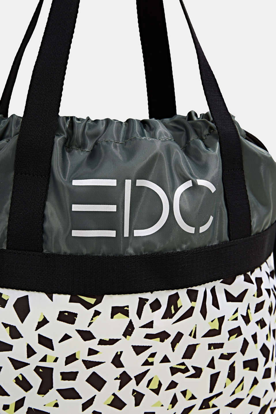 Nylon tote bag with a print, WHITE, detail image number 3