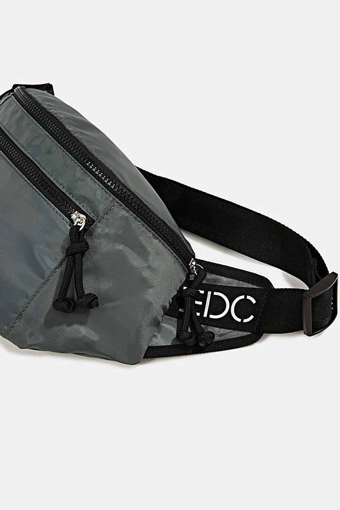 Belt bag van nylon, KHAKI GREEN, detail image number 2