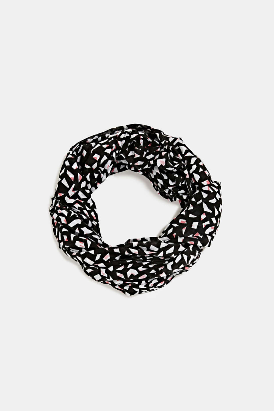 Snood made of 100% organic cotton, BLACK, detail image number 0
