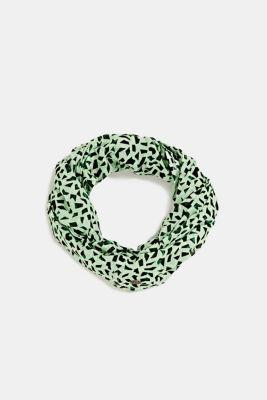 Snood made of 100% organic cotton, PASTEL GREEN, detail