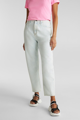Trend jeans with waist pleats, 100% cotton