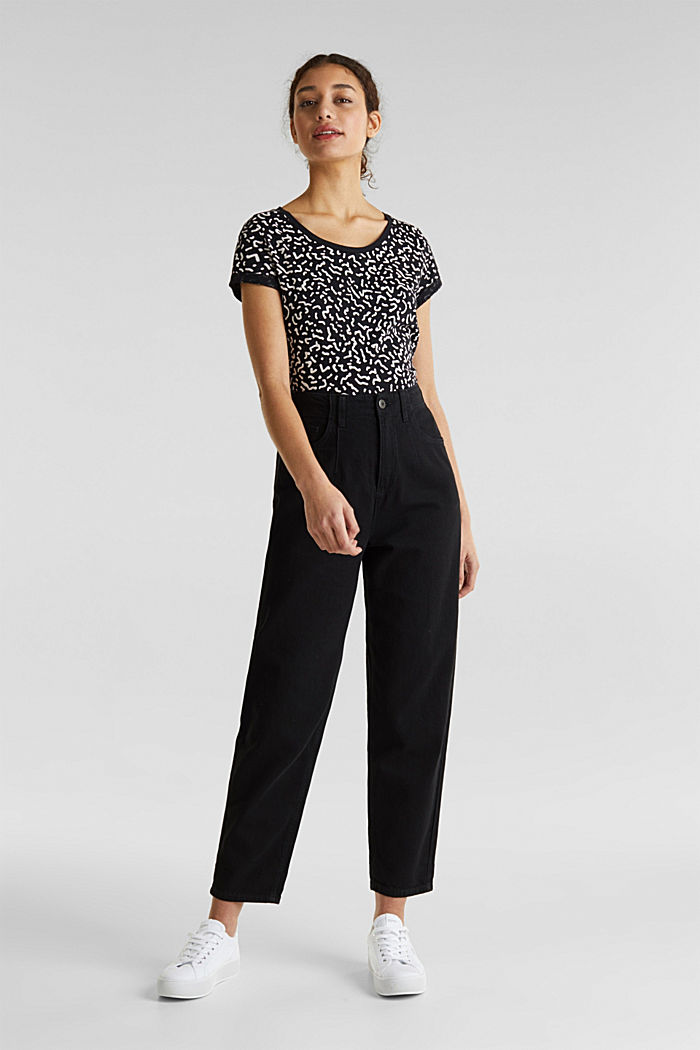 With linen: balloon trousers, BLACK, detail image number 1