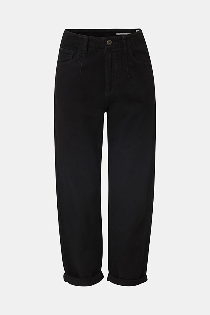 With linen: balloon trousers, BLACK, detail image number 7