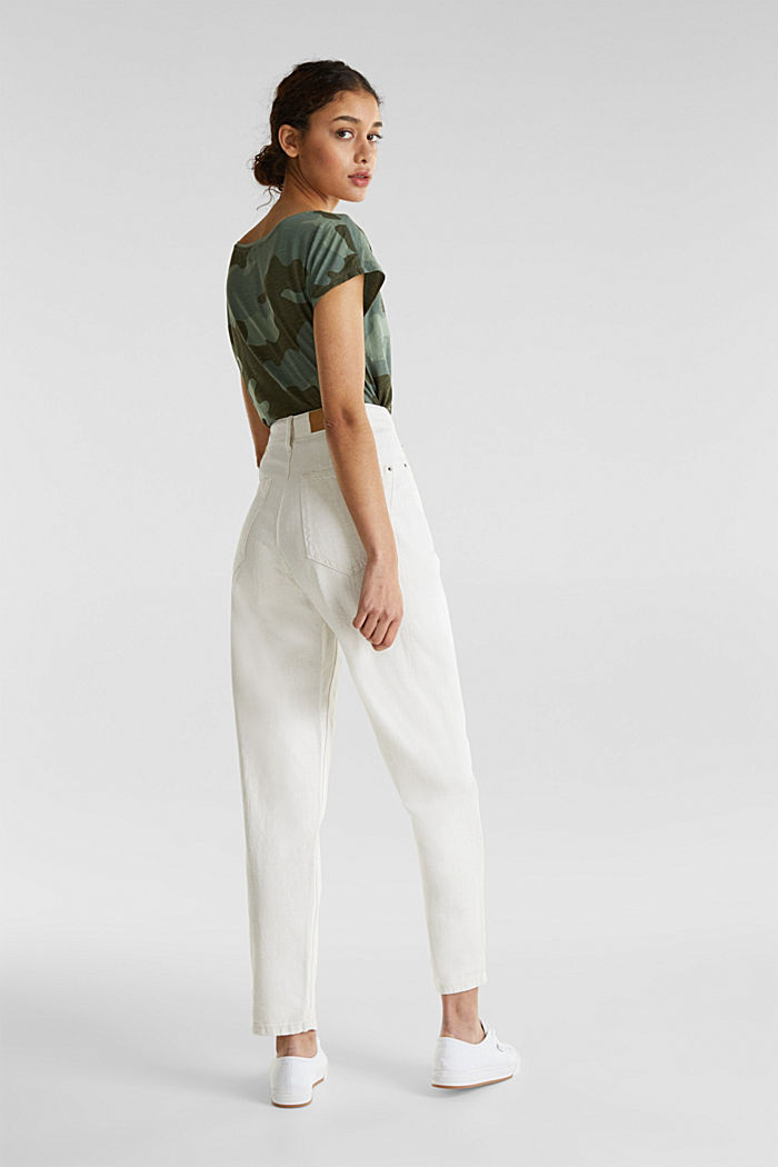 With linen: balloon trousers, OFF WHITE, detail image number 3