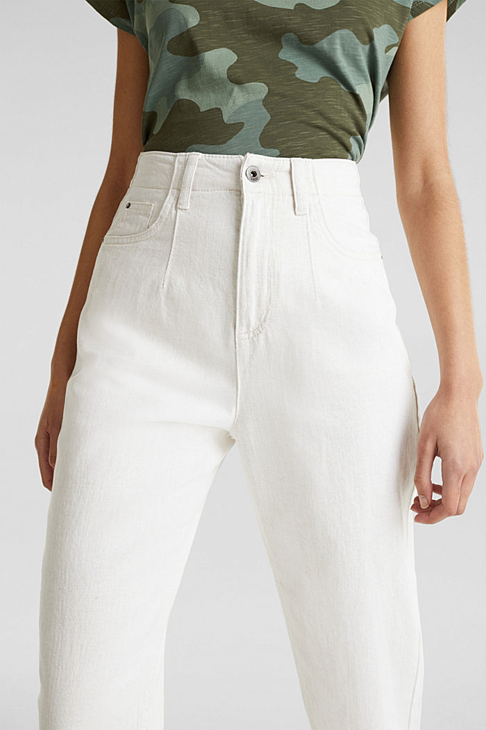 With linen: balloon trousers, OFF WHITE, detail image number 2