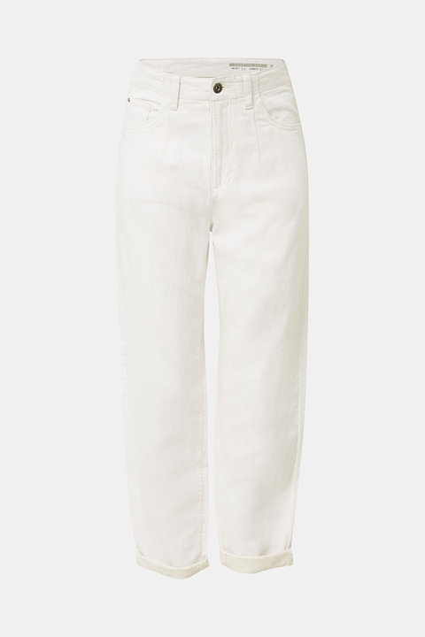 With linen: balloon trousers