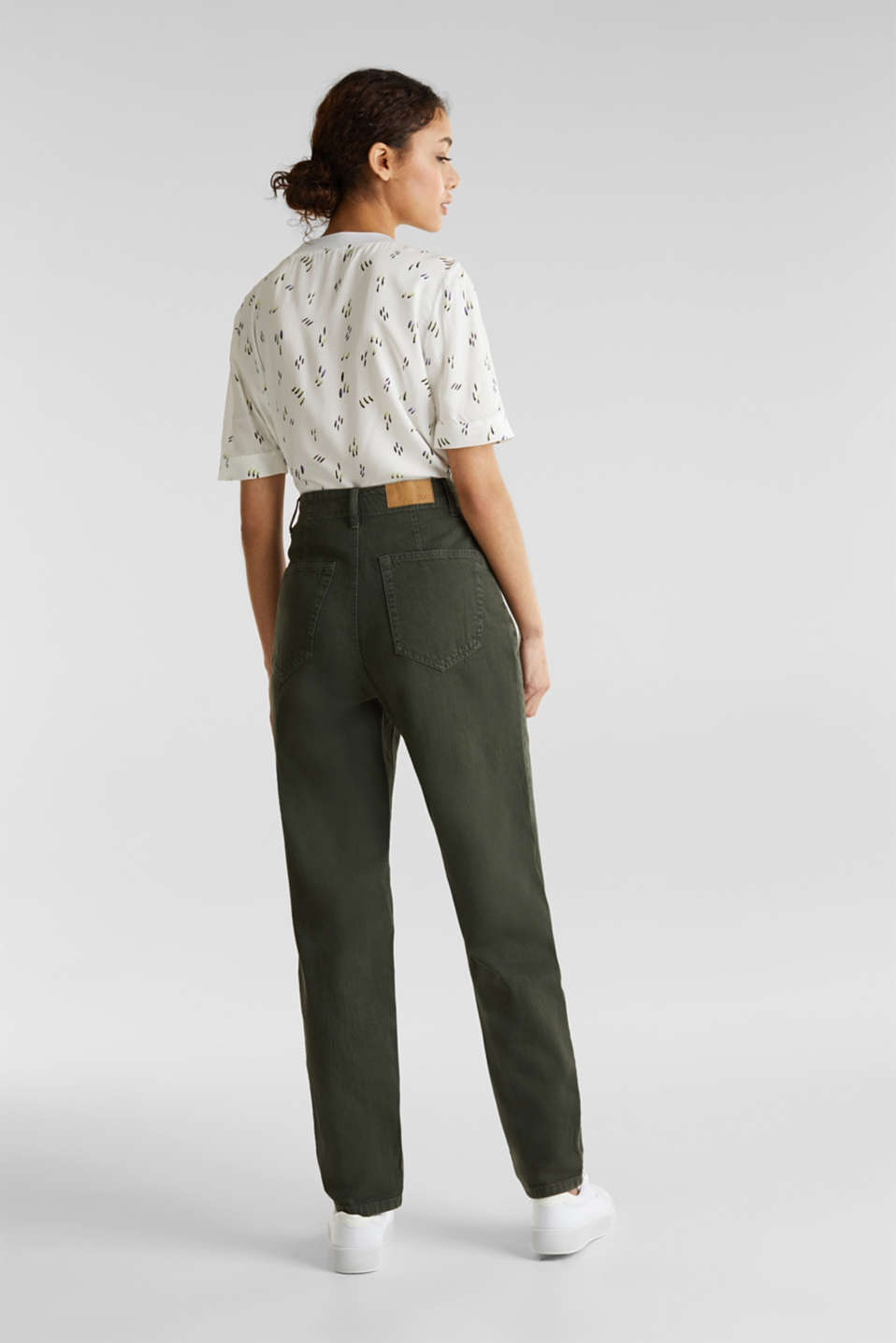 With linen: balloon trousers, KHAKI GREEN, detail image number 3