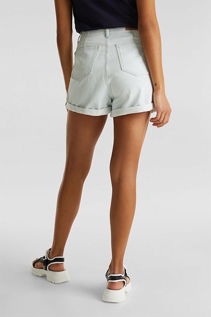 Cotton denim shorts, BLUE BLEACHED, detail image number 3