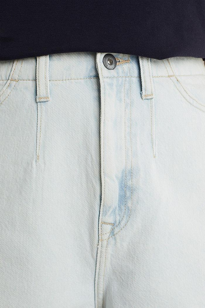 Cotton denim shorts, BLUE BLEACHED, detail image number 2