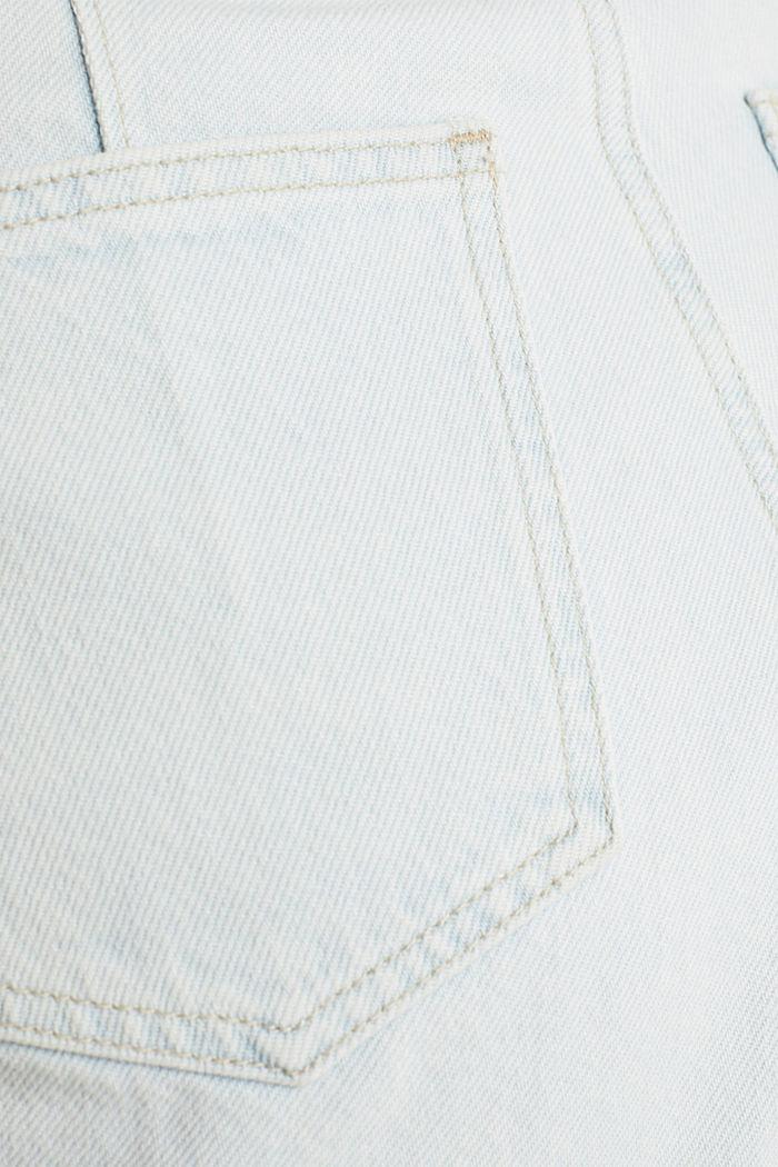 Cotton denim shorts, BLUE BLEACHED, detail image number 4