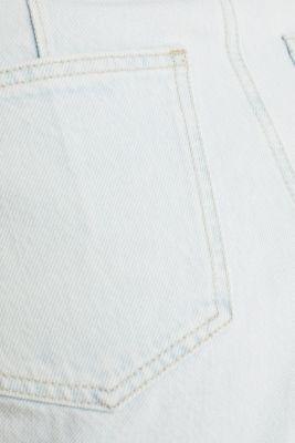 Cotton denim shorts, BLUE BLEACHED, detail