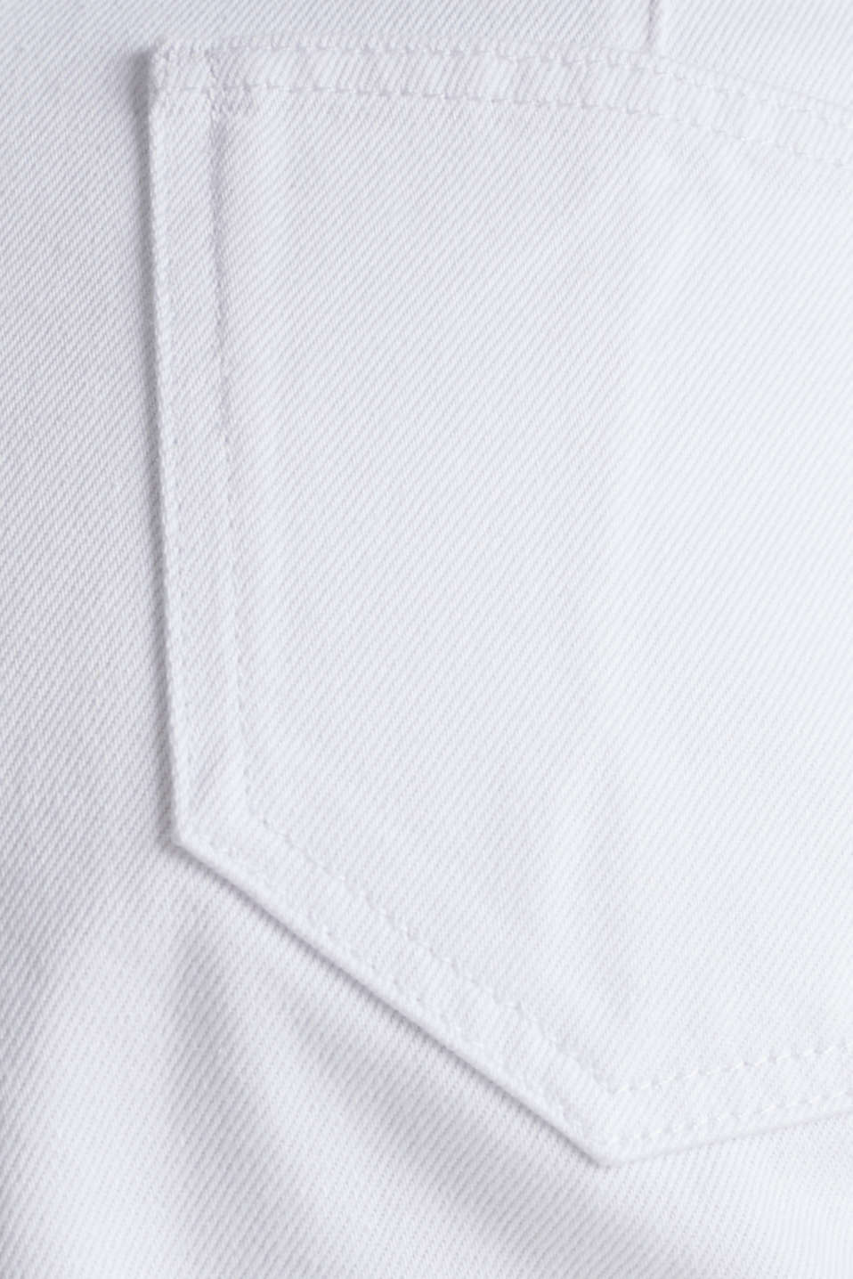 High-rise denim shorts, WHITE, detail image number 4