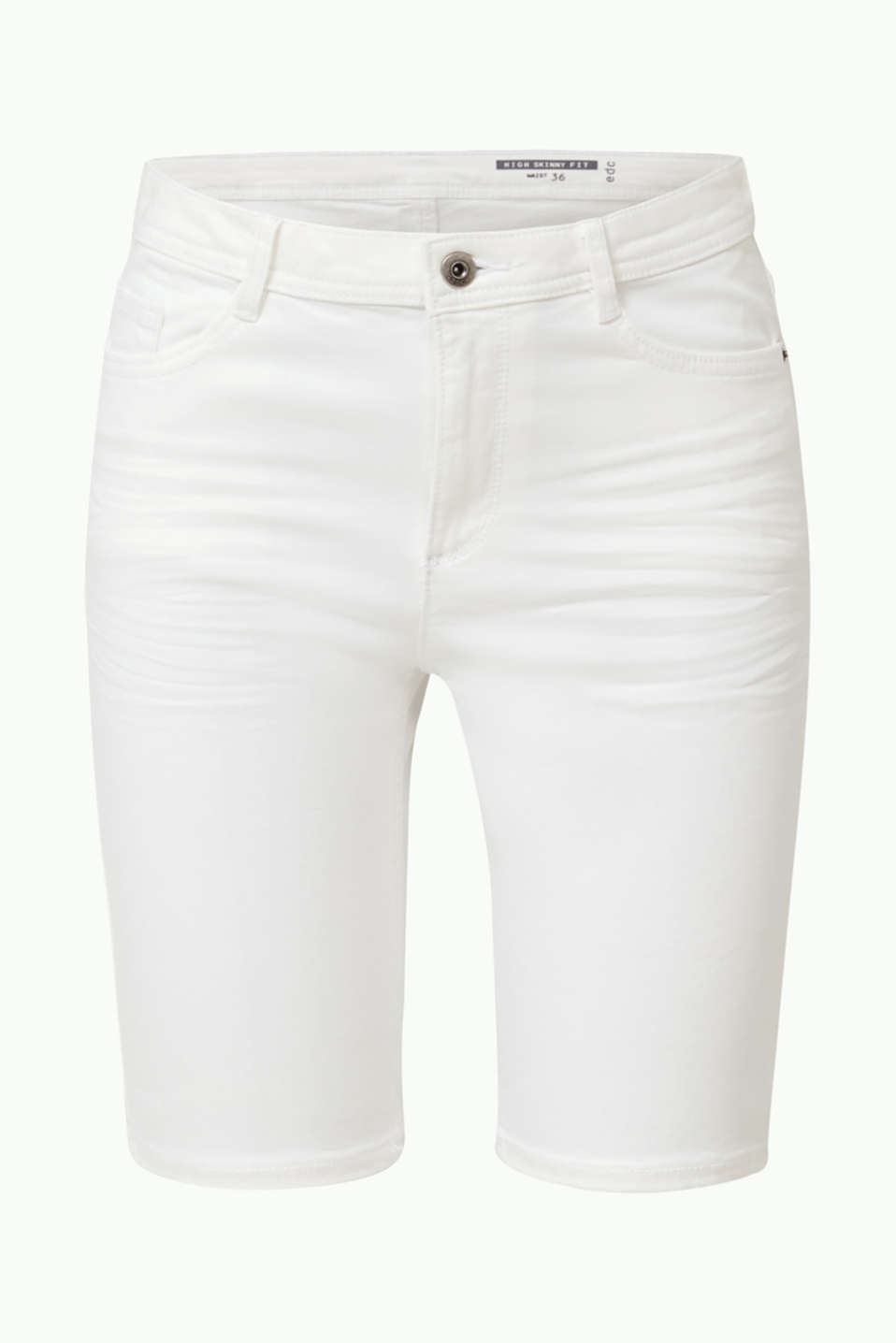 Stretch cotton shorts, WHITE, detail image number 5