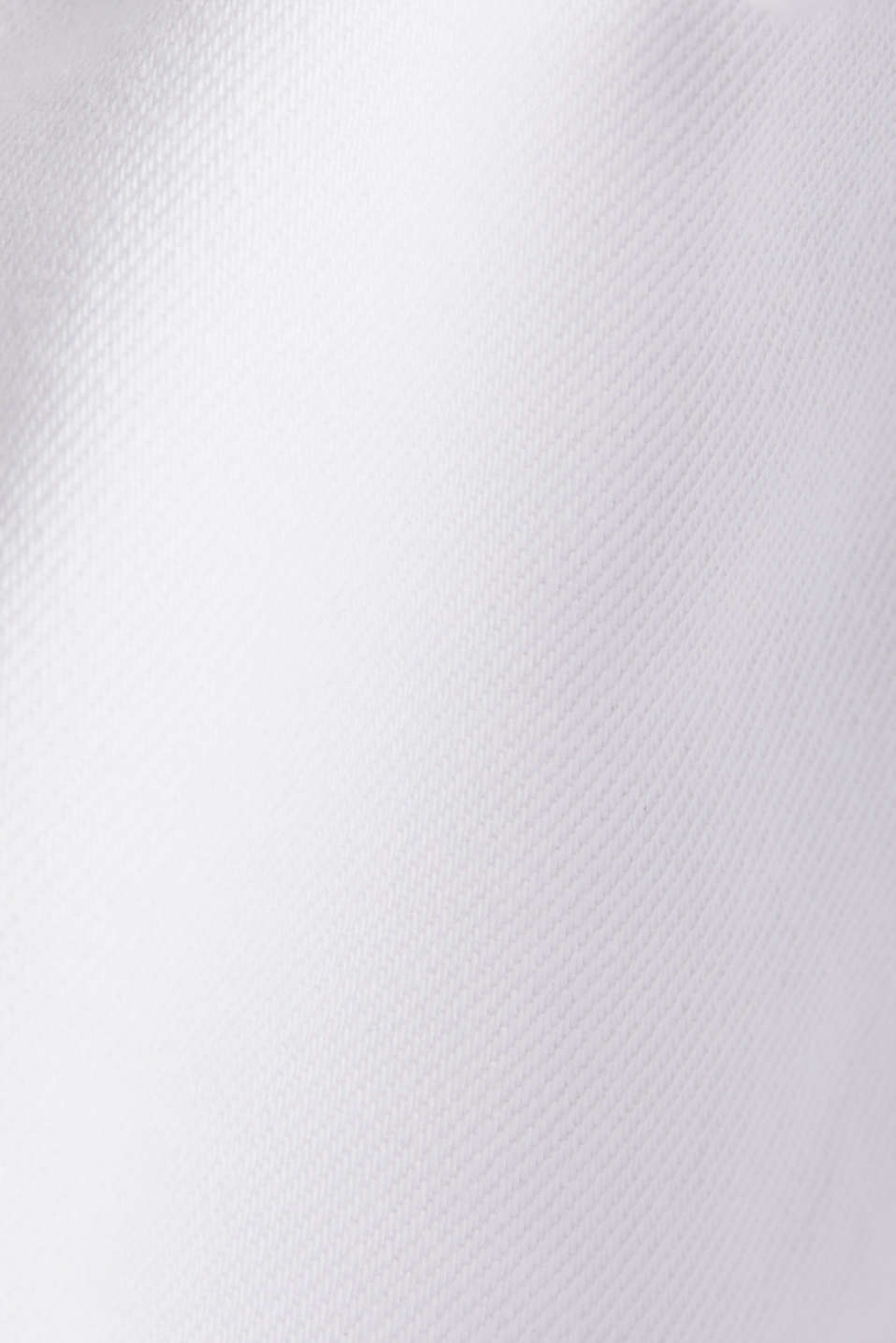High rise denim shorts, WHITE, detail image number 3