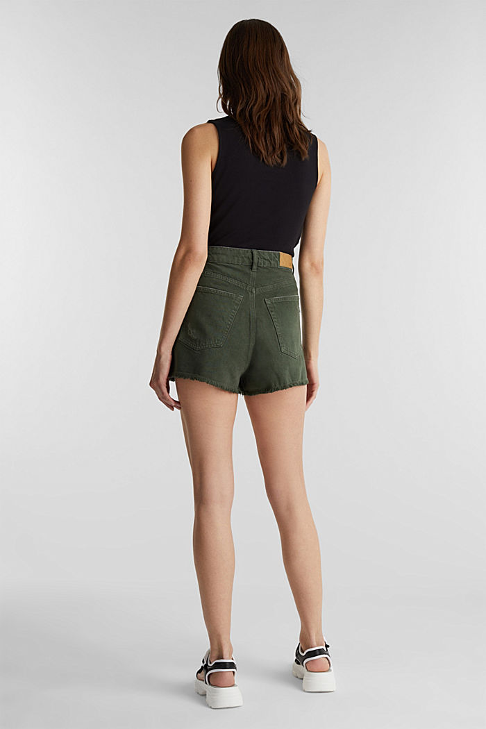 Used-Shorts mit Lyocell, KHAKI GREEN, detail image number 3