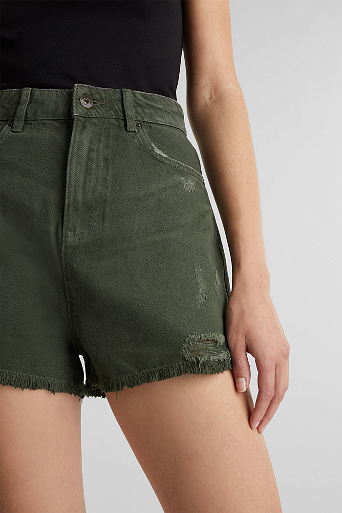 Used-Shorts mit Lyocell, KHAKI GREEN, detail image number 2