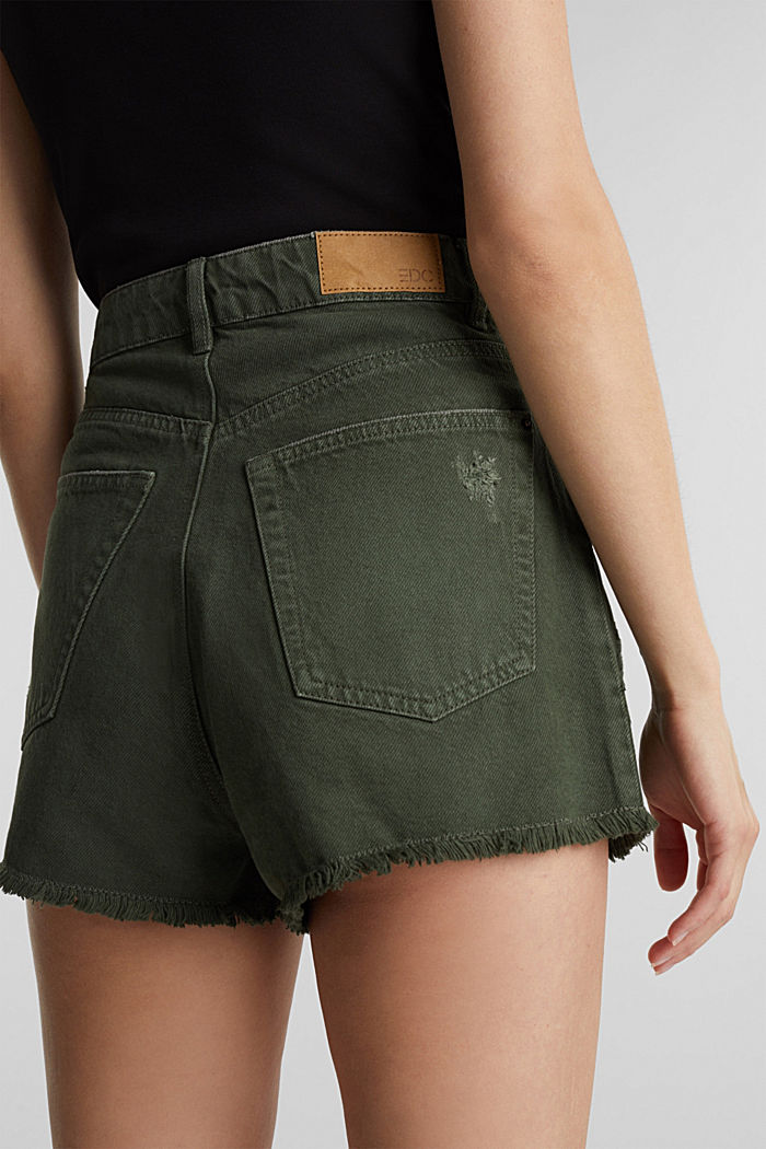 Used-Shorts mit Lyocell, KHAKI GREEN, detail image number 5