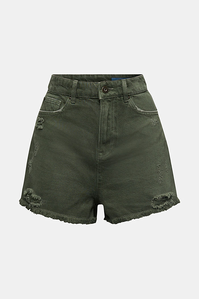 Used-Shorts mit Lyocell, KHAKI GREEN, detail image number 6