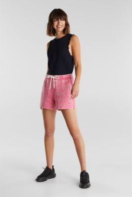 Sweatshirt shorts in 100% cotton, PINK FUCHSIA, detail