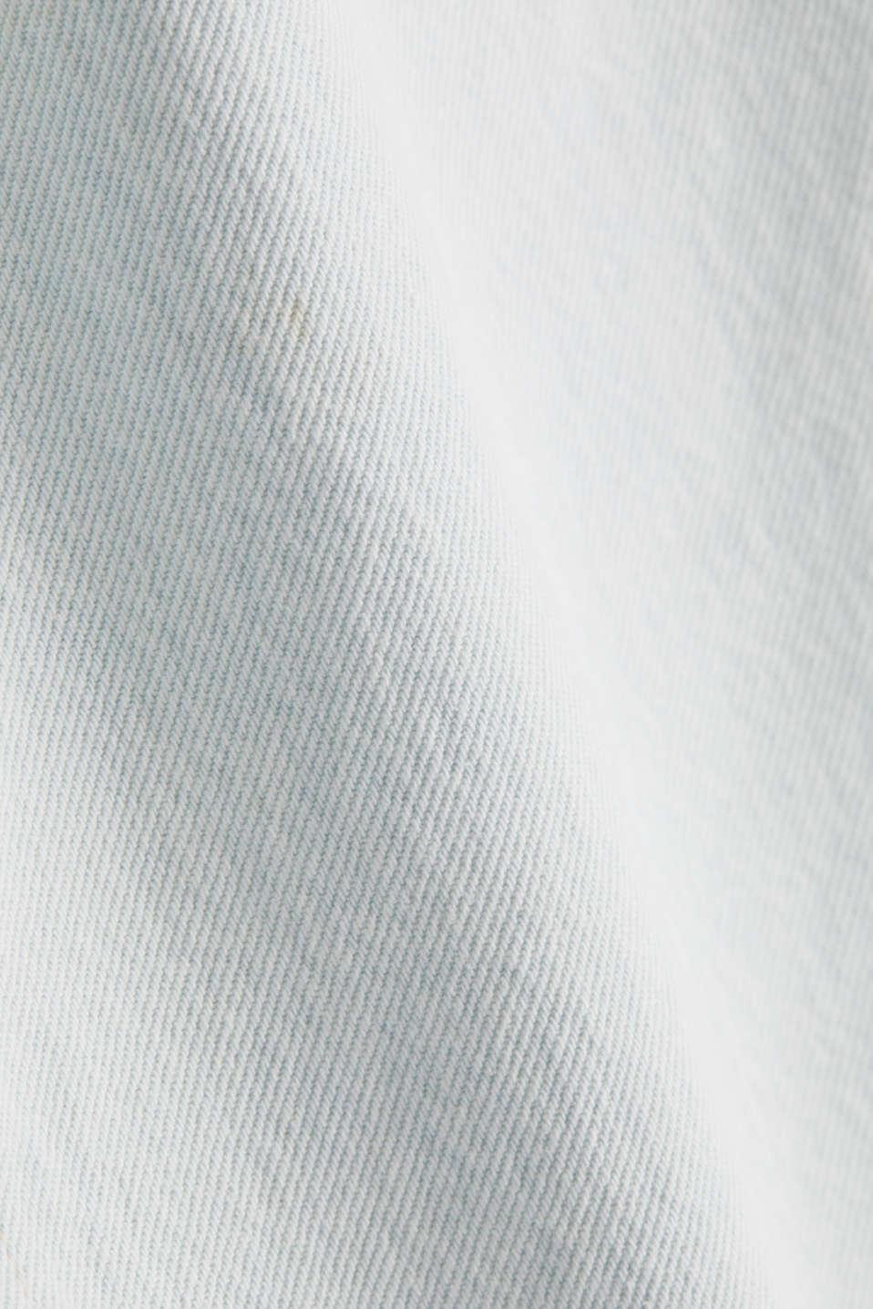 Denim skirt in 100% cotton, BLUE BLEACHED, detail image number 4