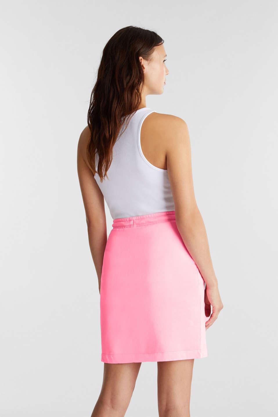 Sweatshirt fabric skirt, 100% cotton, PINK, detail image number 2