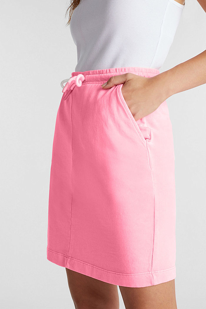 Sweatshirt fabric skirt, 100% cotton, PINK, detail image number 1
