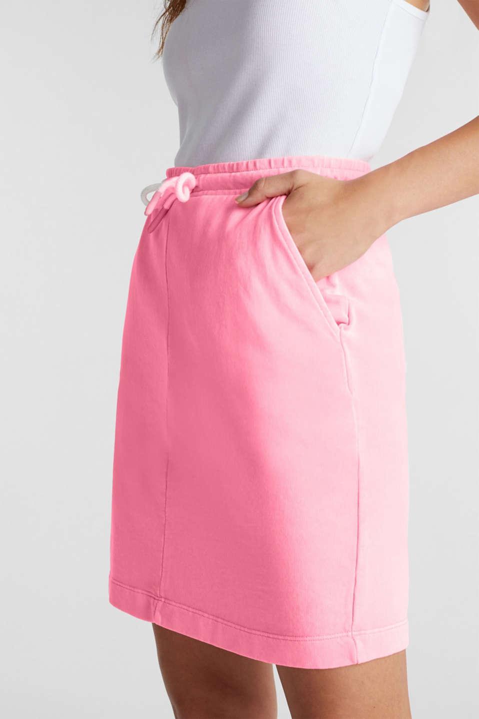 Sweatshirt fabric skirt, 100% cotton, PINK, detail image number 1