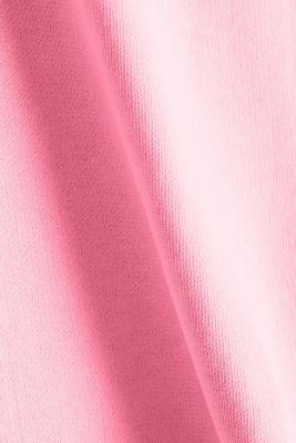Sweatshirt fabric skirt, 100% cotton, PINK, detail