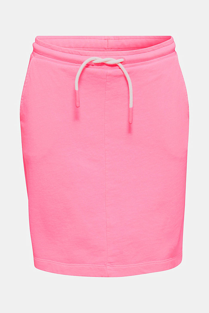 Sweatshirt fabric skirt, 100% cotton, PINK, detail image number 4