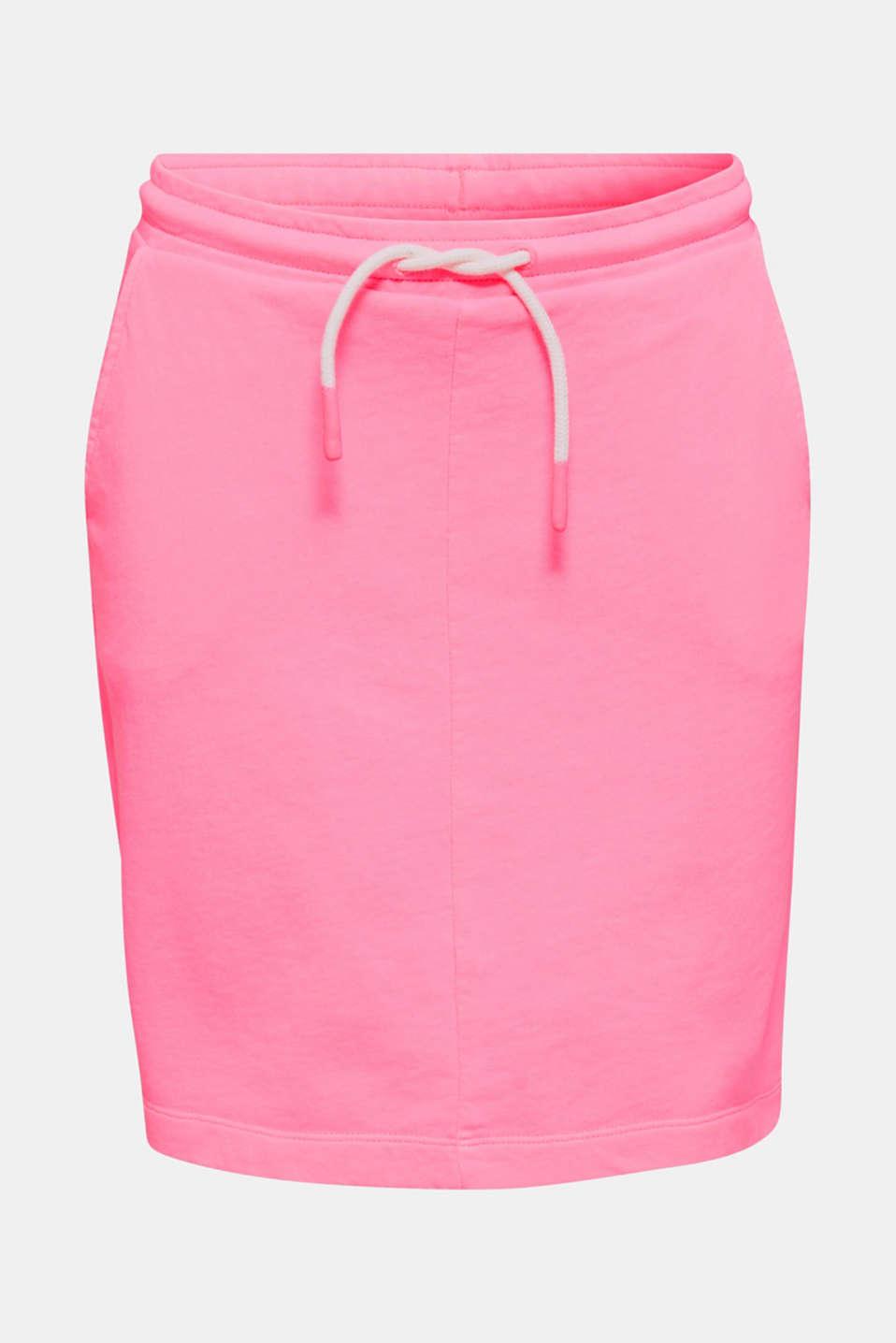 Sweatshirt fabric skirt, 100% cotton, PINK, detail image number 4