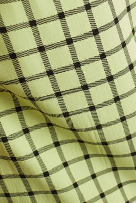 Check dress made of LENZING™ ECOVERO™, LIME YELLOW 3, detail