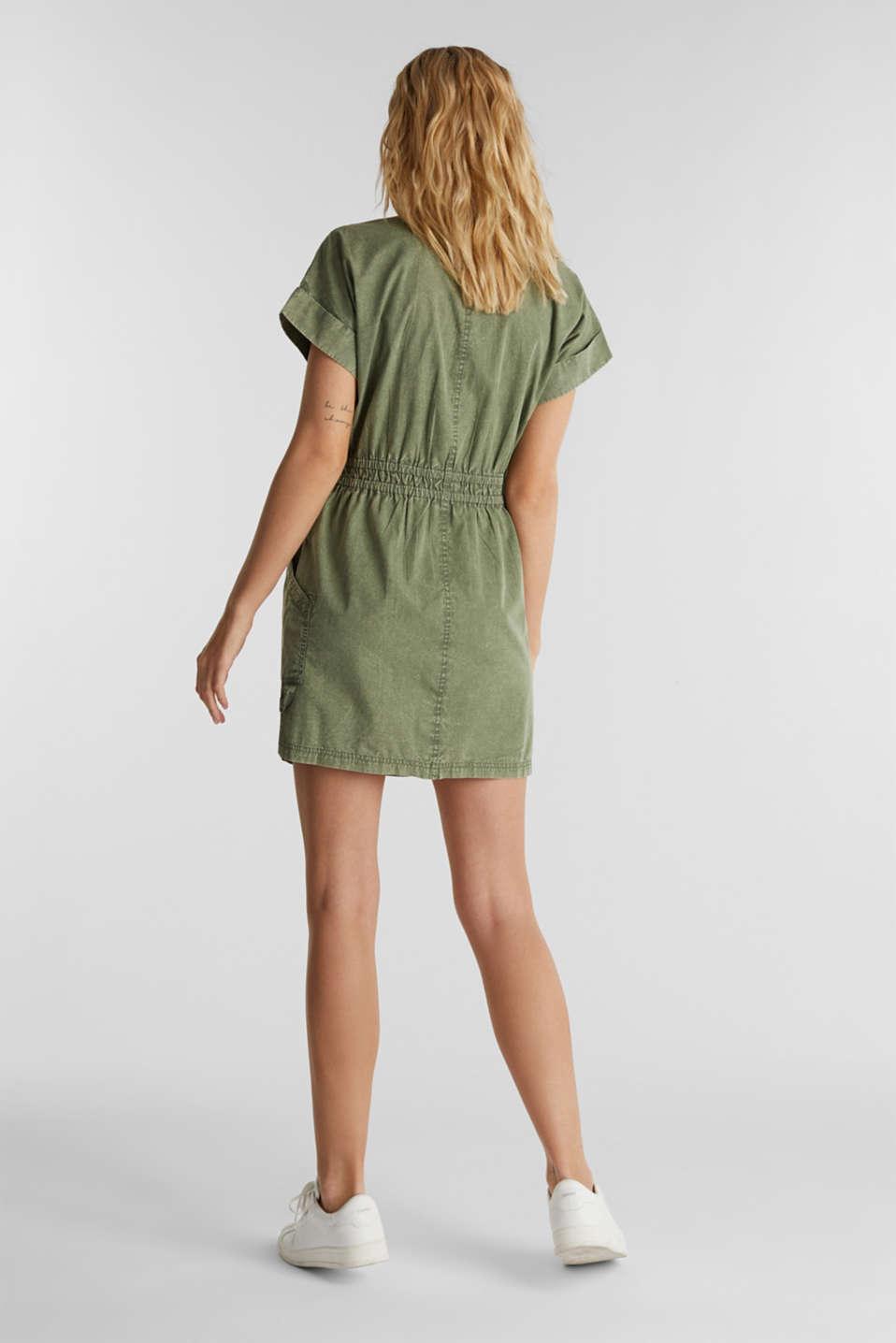 Dress made of 100% organic cotton, KHAKI GREEN, detail image number 2