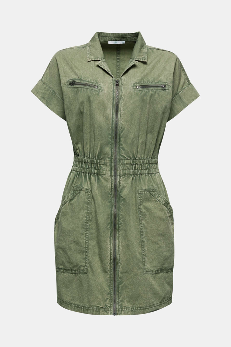 Dress made of 100% organic cotton, KHAKI GREEN, detail image number 6