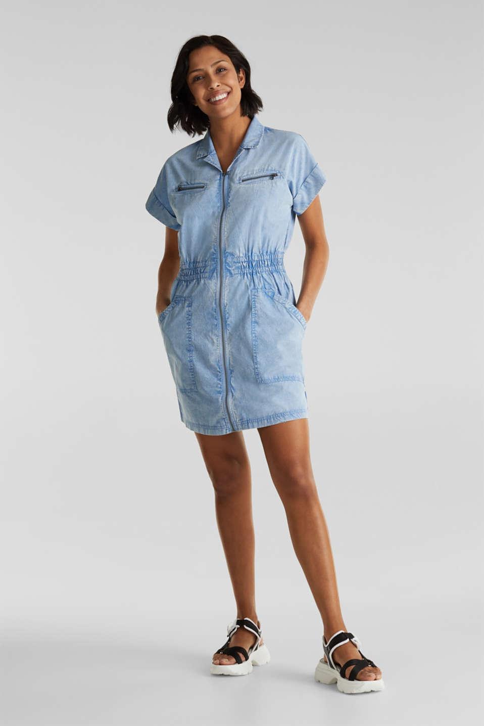 Dress made of 100% organic cotton, LIGHT BLUE, detail image number 1