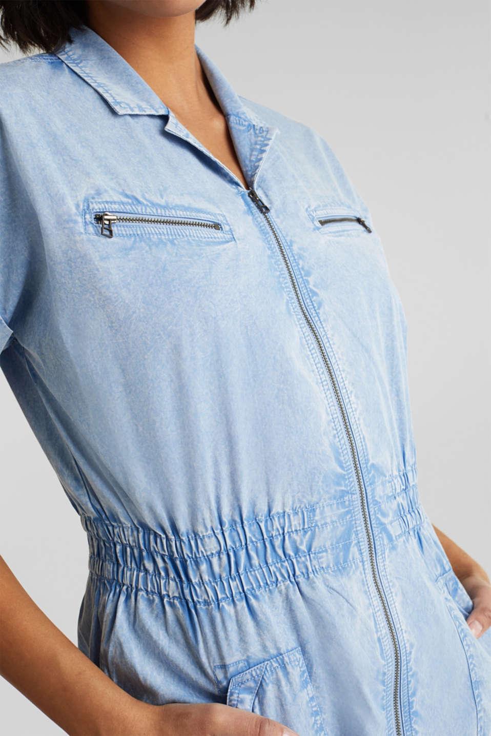 Dress made of 100% organic cotton, LIGHT BLUE, detail image number 3