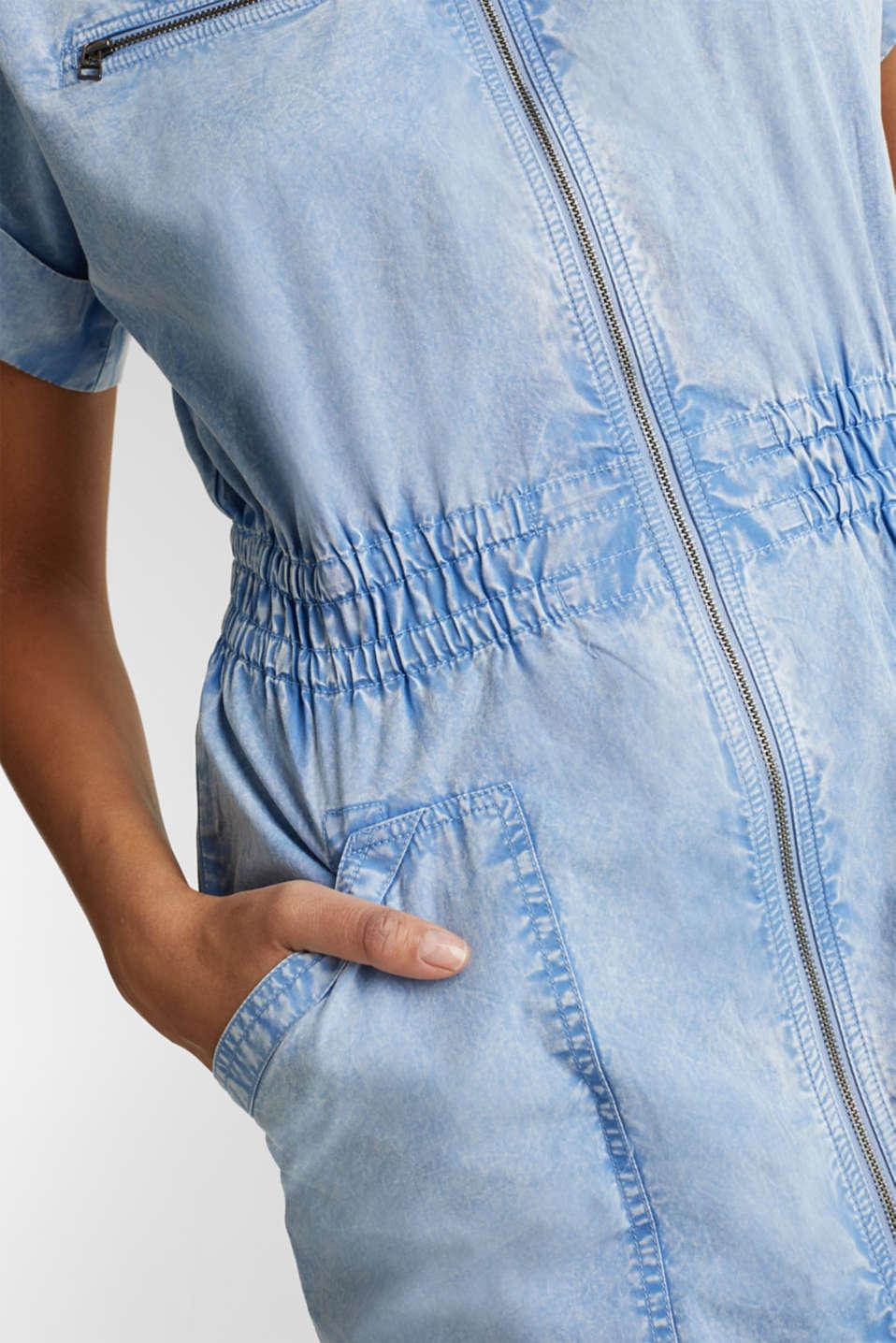 Dress made of 100% organic cotton, LIGHT BLUE, detail image number 4