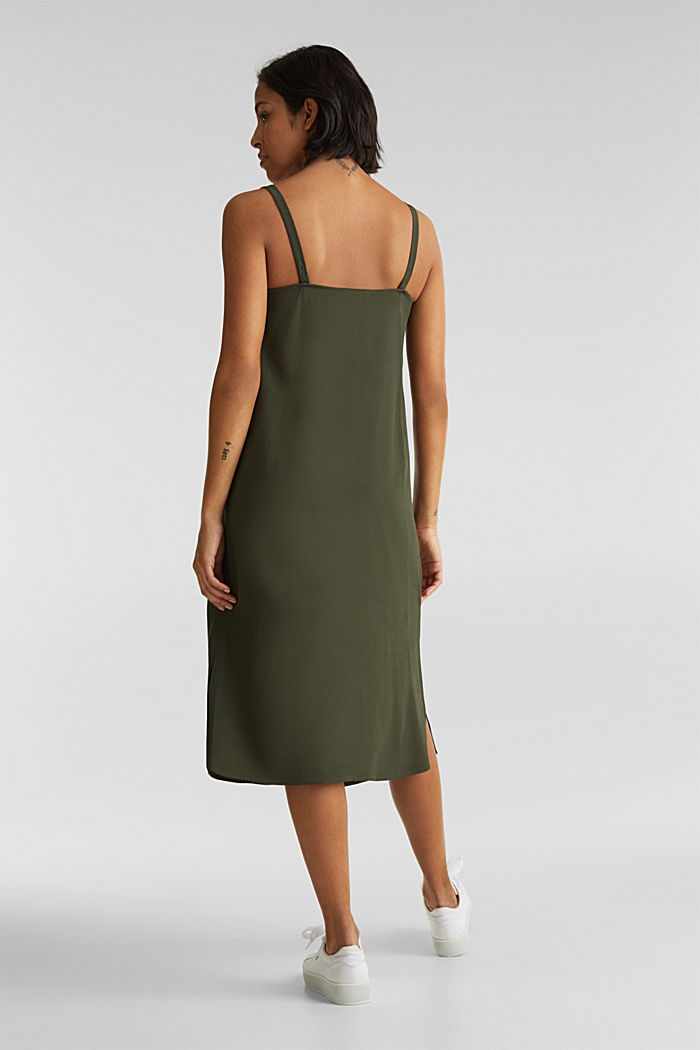 Strappy dress made of LENZING™ ECOVERO™, KHAKI GREEN, detail image number 1