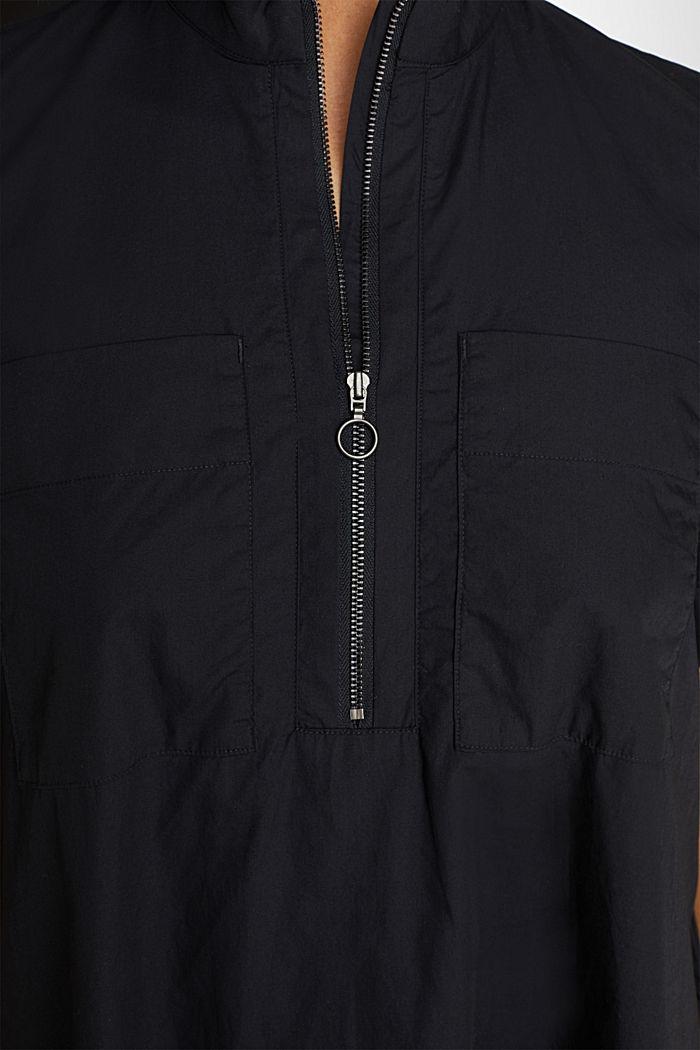 Utility-Dress aus Bio-Baumwolle, BLACK, detail image number 3