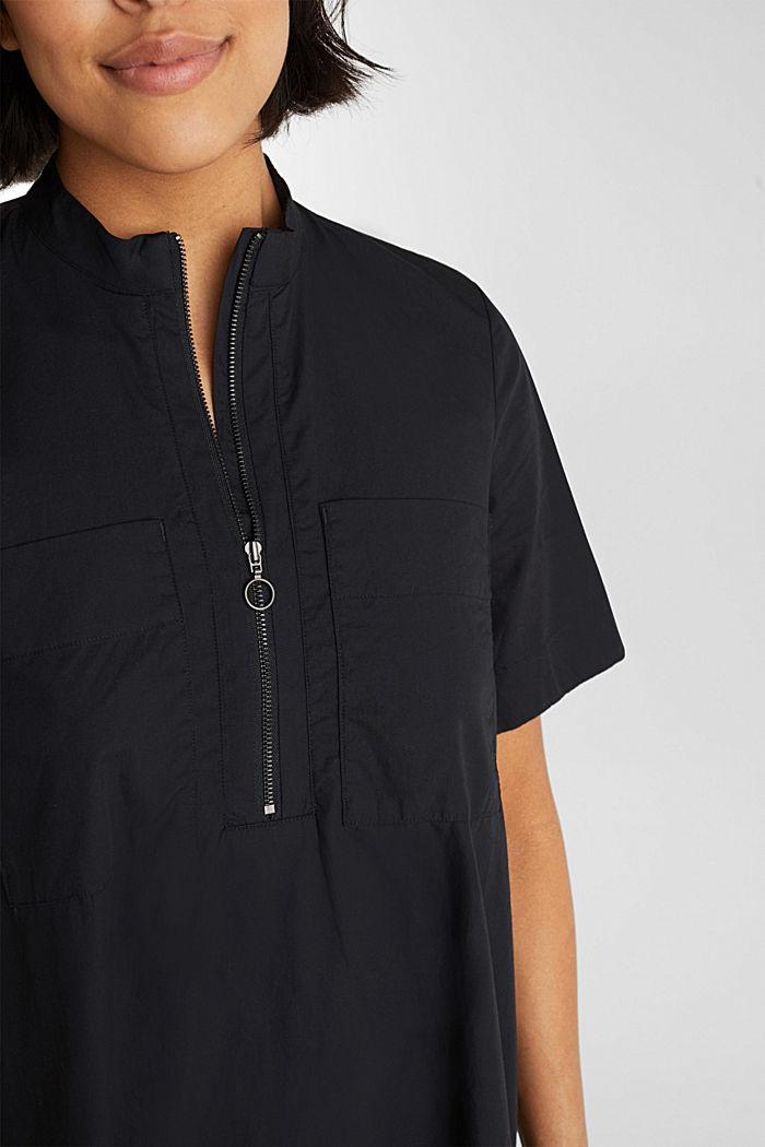 Utility-Dress aus Bio-Baumwolle, BLACK, detail image number 5