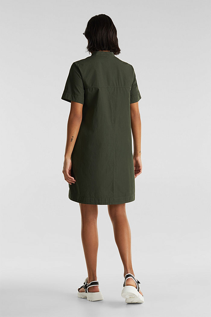 Utility dress made of organic cotton, KHAKI GREEN, detail image number 1